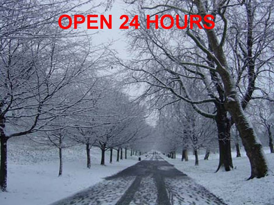 24 hour assistance during snow storms
